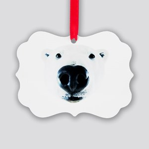 Polar Bear Sniff Picture Ornament