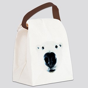 Polar Bear Sniff Canvas Lunch Bag