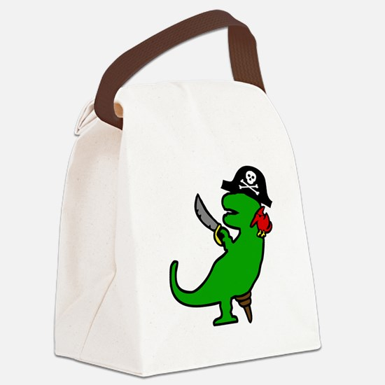Pirate Dinosaur Canvas Lunch Bag