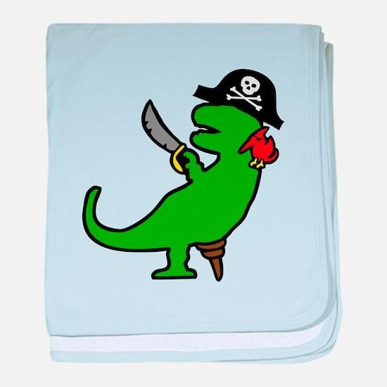 Pirate Dinosaur baby blanket