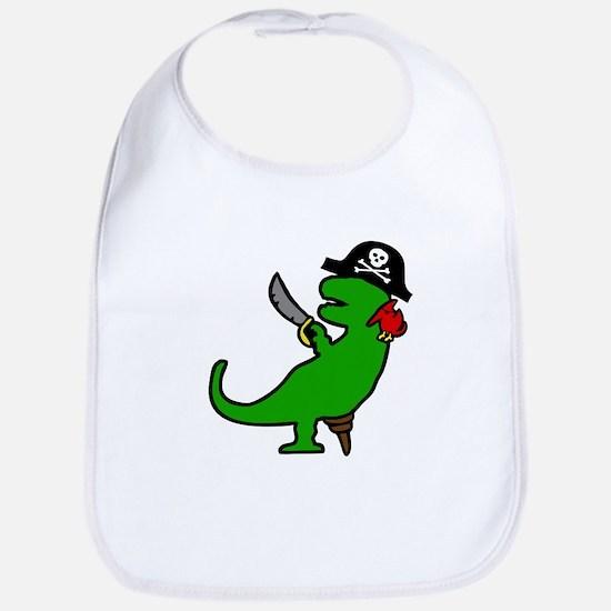 Pirate Dinosaur Bib