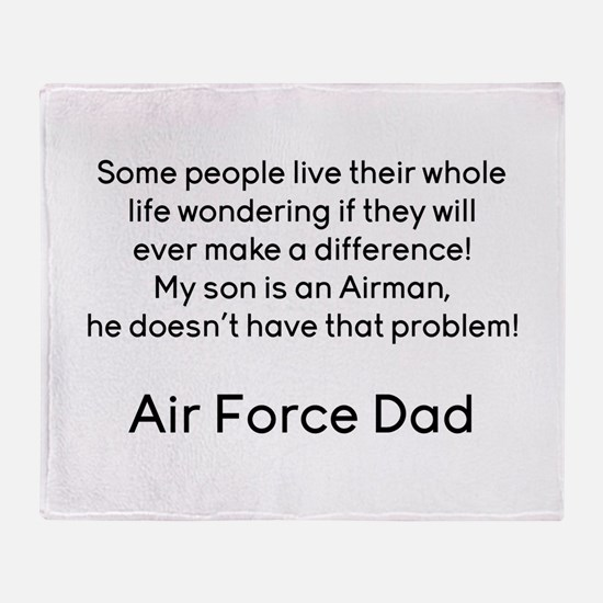 AF Dad Son Difference Throw Blanket