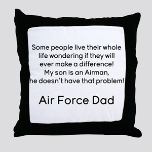 AF Dad Son Difference Throw Pillow