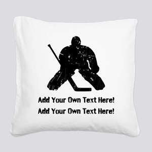 Personalize It, Hockey Goalie Square Canvas Pillow