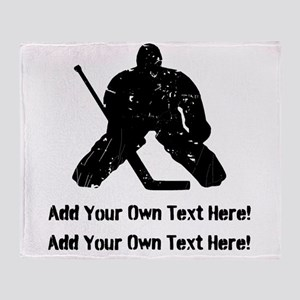 Personalize It, Hockey Goalie Throw Blanket