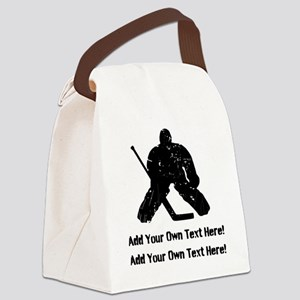 Personalize It, Hockey Goalie Canvas Lunch Bag