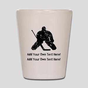 Personalize It, Hockey Goalie Shot Glass