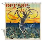 Vintage Paris Fairy Bicycle Shower Curtain