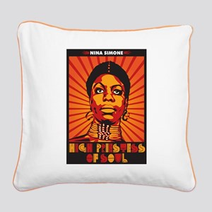 High Priestess of Soul Square Canvas Pillow
