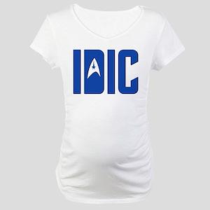IDIC (w/TOS Insignia) Maternity T-Shirt