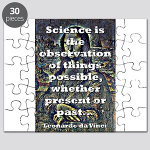 Science Is The Observation - da Vinci Puzzle