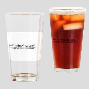 Mamihlapinatapai Definition Drinking Glass