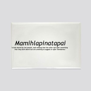 Mamihlapinatapai Definition Rectangle Magnet