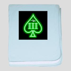 Three Percent - Spade and Rifle - Green Glow baby