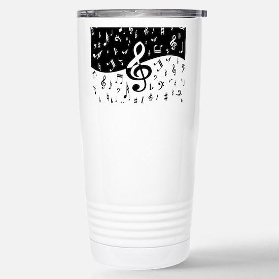 Stylish random musical notes Mugs