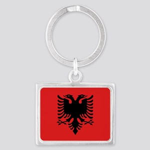 Flag of Albanian Landscape Keychain