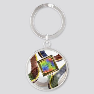 Football with chip - Round Keychain