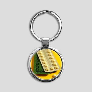Oral contraception - Round Keychain