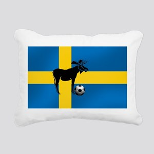 Swedish Soccer Elk Flag Rectangular Canvas Pillow