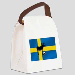 Swedish Soccer Elk Flag Canvas Lunch Bag