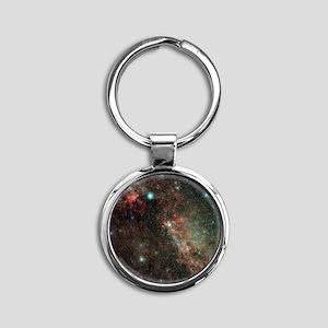 Milky Way in Cygnus - Round Keychain