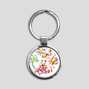 k - Round Keychain