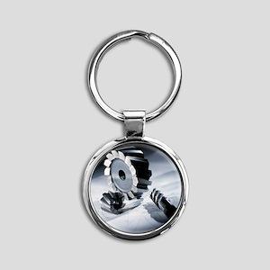 Drill - Round Keychain