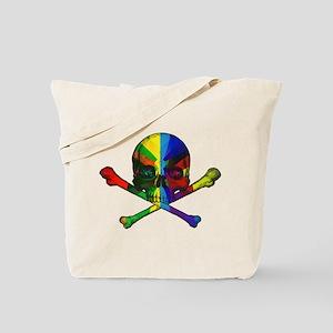 Color Geometric Skull Tote Bag