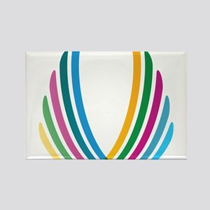Color Ribbons Rectangle Magnet