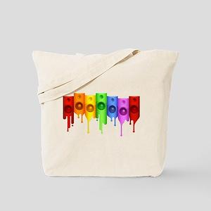 Rainbow Speakers Tote Bag