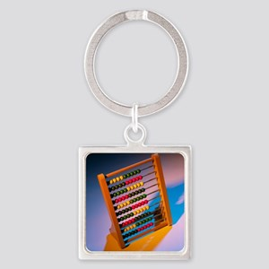 Abacus - Square Keychain