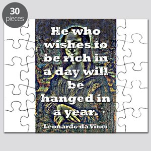 He Who Wishes To Be Rich - da Vinci Puzzle