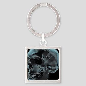 Skull, artwork - Square Keychain