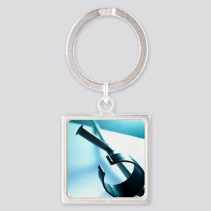 Walking crutch - Square Keychain