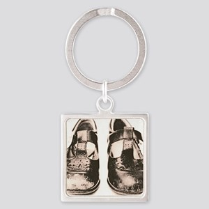 Child's worn shoes - Square Keychain