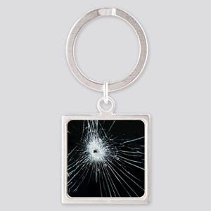 Broken glass - Square Keychain