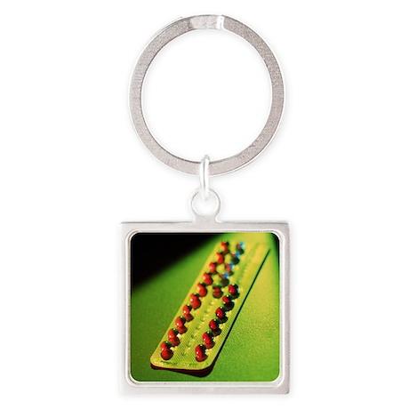 Contraceptive pills - Square Keychain