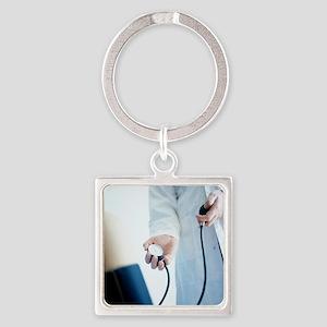 Blood pressure measurement - Square Keychain