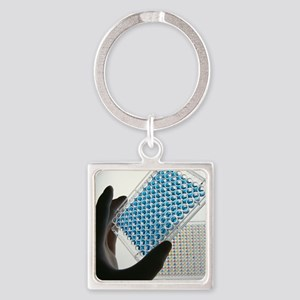 ELISA test plate - Square Keychain