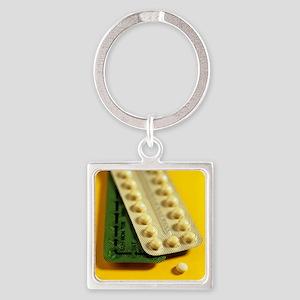 Oral contraception - Square Keychain