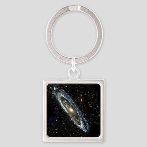 Andromeda Galaxy, UV image - Square Keychain