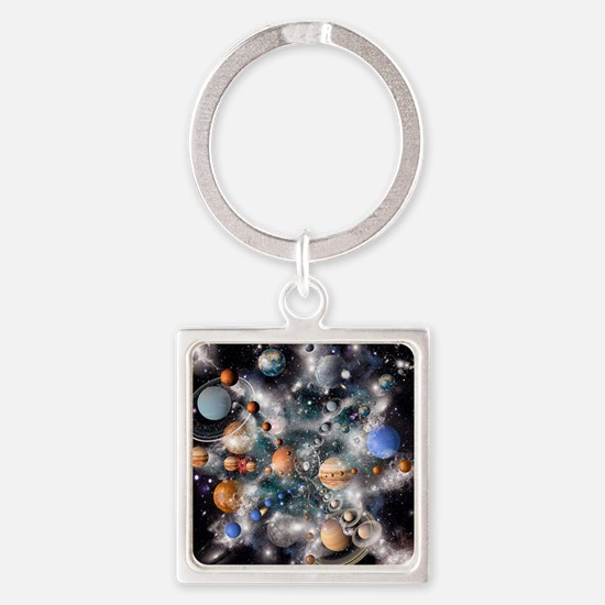 Solar system planets - Square Keychain