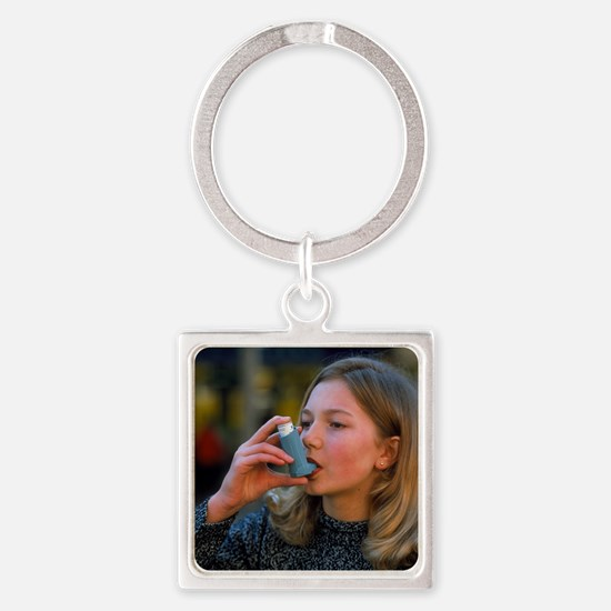 r for asthma - Square Keychain