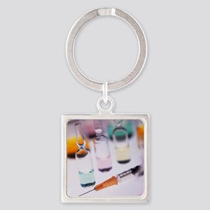 Vaccination research - Square Keychain