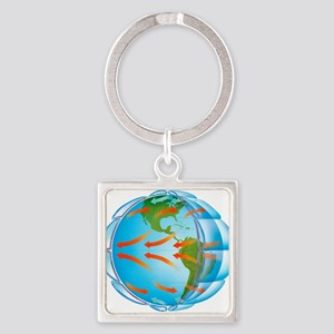 Global air circulation - Square Keychain