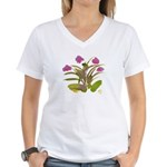 Lilac and Green Atom Flowers #34 T-Shirt