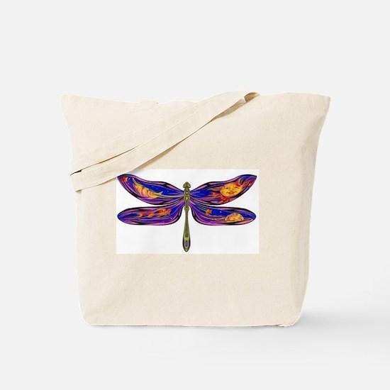 Celestial Fantasy Dragonfly Tote Bag