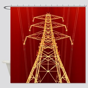 Electricity pylon - Shower Curtain