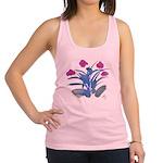Purple and Fuschia Atom Flowers #34 Racerback Tank