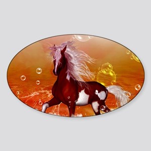 Beautiful horse on the beach in the night Sticker